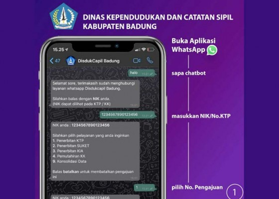 Nusabali.com - disdukcapil-layani-masyarakat-menggunakan-aplikasi-chatbot