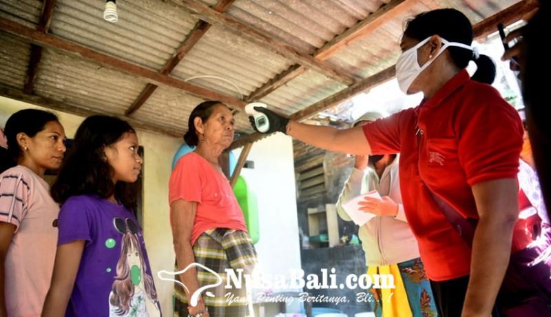 www.nusabali.com-waspada-corona-desa-adat-sesetan-lakukan-pengecekan-suhu-tubuh