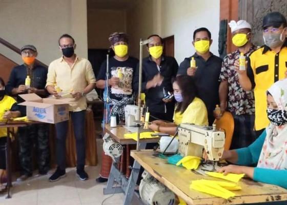 Nusabali.com - gandeng-umkm-golkar-bali-produksi-100000-masker-kuning