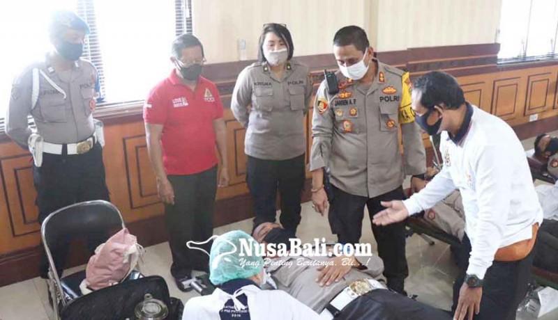 www.nusabali.com-180-personel-polresta-donor-darah