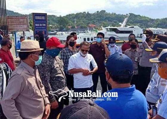 Nusabali.com - komisi-iv-dprd-bali-tinjau-protap-covid-19-di-pelabuhan-padangbai