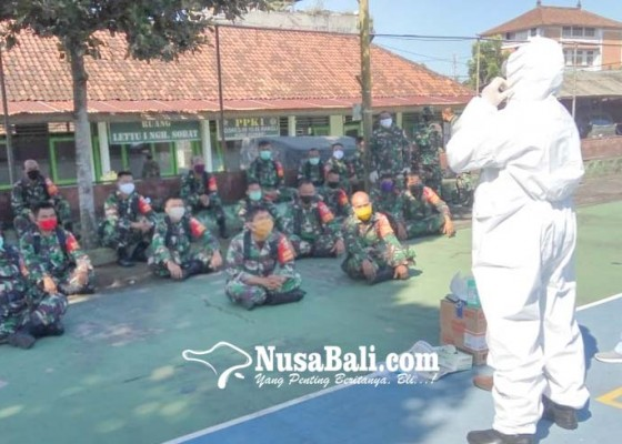 Nusabali.com - babinsa-latihan-gunakan-apd