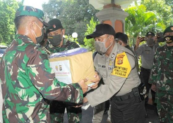 Nusabali.com - kodam-dan-polda-gelontor-1110-paket-sembako
