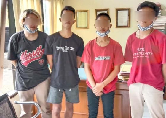 Nusabali.com - bobol-kulkas-warung-empat-remaja-diamankan