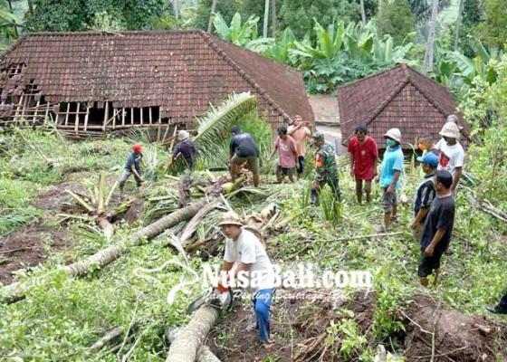 Nusabali.com - diterjang-longsor-rumah-dihuni-tiga-kk-hancur