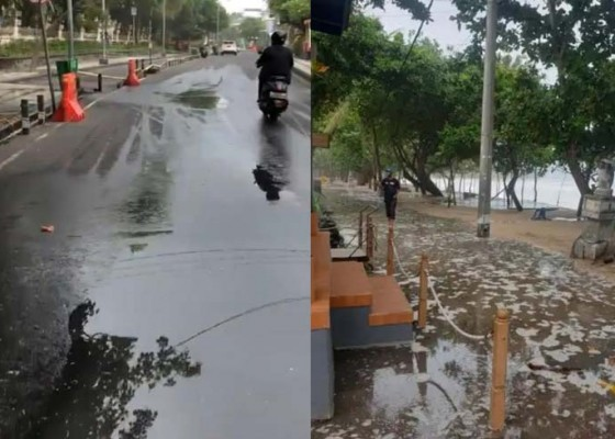 Nusabali.com - banjir-rob-landa-pesisir-selatan-bali-bmkg-imbau-kurangi-aktivitas-di-laut