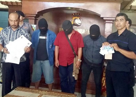 Nusabali.com - memalak-atas-nama-ormas-tiga-pria-diamankan
