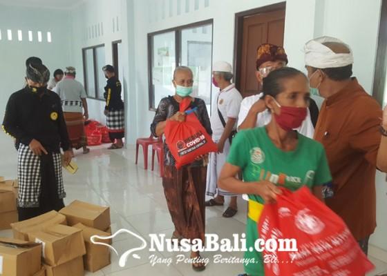 Nusabali.com - satgas-covid-19-mgpssr-bali-sebar-seribu-paket-sembako