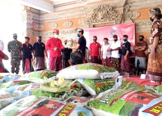 Nusabali.com - desa-mas-digelontor-2600-paket-beras