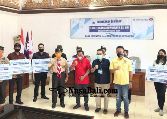 Nusabali.com - kpwbi-bali-salurkan-1000-paket-sembako