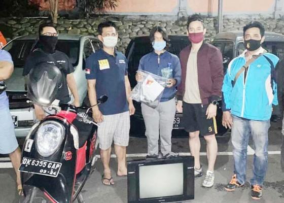 Nusabali.com - curi-tv-dan-uang-dolar-gadis-ditangkap-polisi