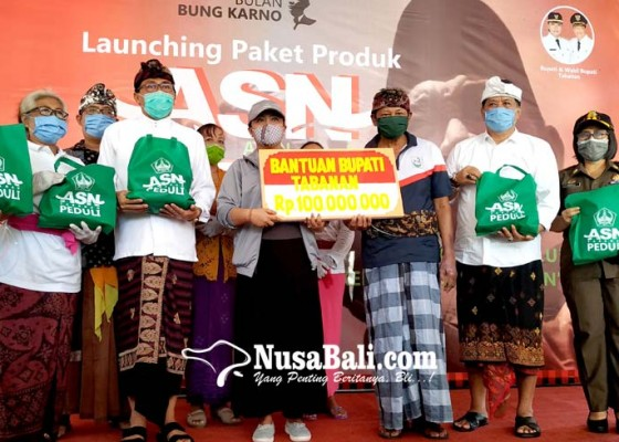 Nusabali.com - tpp-dipotong-4400-asn-tabanan-terima-paket-produk-pertanian