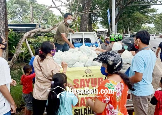 Nusabali.com - bagikan-sayur-segar-gratis-didatangkan-langsung-dari-kampung-halaman
