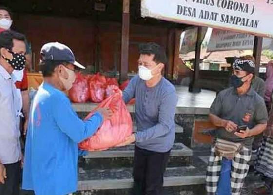 Nusabali.com - keluarga-warga-terjangkit-covid-19-di-4-desa-terima-sembako
