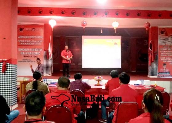 Nusabali.com - bulan-bung-karno-puluhan-siswa-ikuti-lomba-pidato-secara-virtual