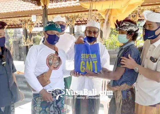 Nusabali.com - gmt-bagikan-2231-sembako-di-4-desa
