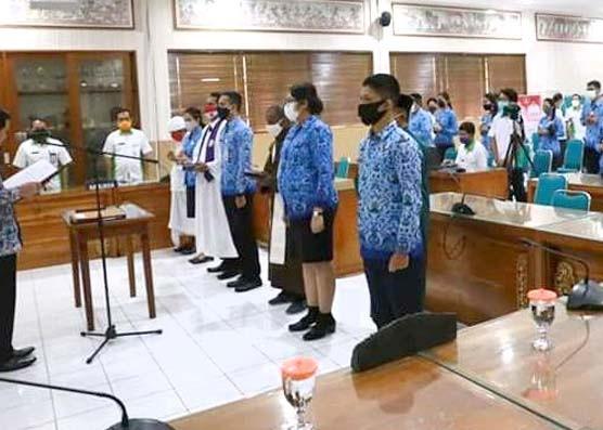 Nusabali.com - 162-asn-dilantik-secara-virtual