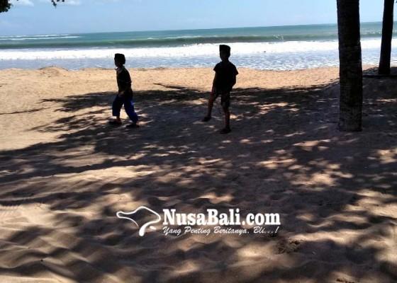 Nusabali.com - pantai-kuta-masih-ditutup-untuk-umum