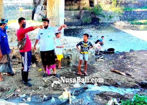 Nusabali.com - bandel-pengusaha-tahu-buang-limbah-ke-tukad-saba