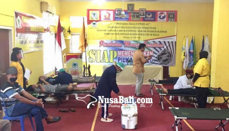 www.nusabali.com-golkar-bangli-ajak-kader-dan-warga-donor-darah
