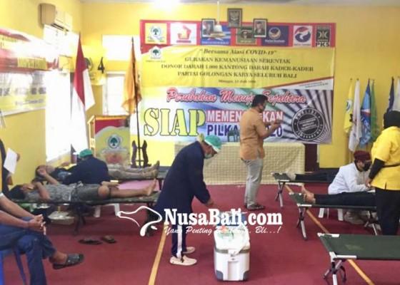 Nusabali.com - golkar-bangli-ajak-kader-dan-warga-donor-darah
