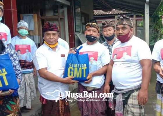Nusabali.com - bantu-32-dadia-gmt-gelontorkan-81-ton-beras