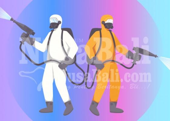 Nusabali.com - pasar-kidul-ditutup-pmi-semprotkan-disinfektan