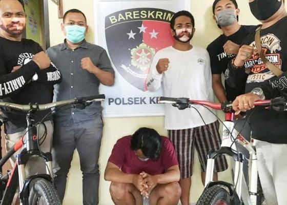 Nusabali.com - seorang-pencuri-sepeda-dijuk-rekannya-buron