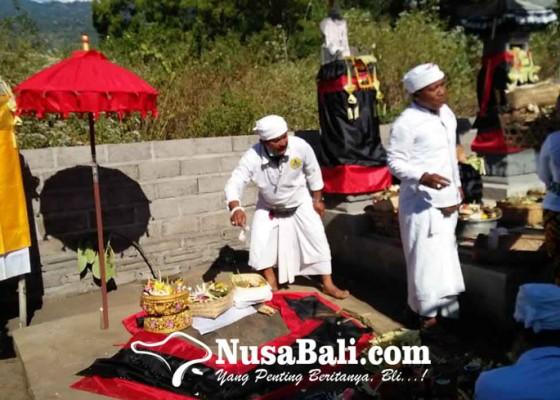 Nusabali.com - lokasi-batu-berisi-jejak-tapak-kaki-kebo-iwa-dibangun-pura