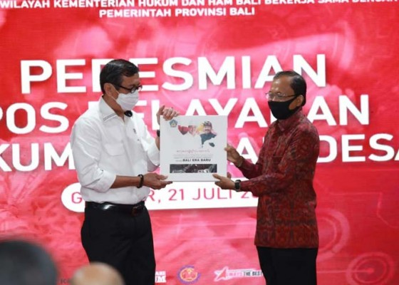 Nusabali.com - menkum-ham-resmikan-121-pos-pelayanan-hukum-desa-se-bali