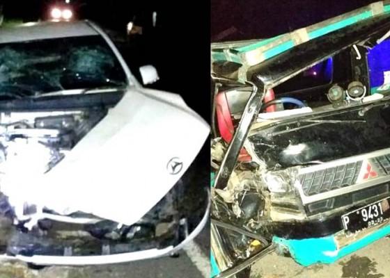 Nusabali.com - adu-jangkrik-ayla-vs-pick-up-3-korban-luka-luka