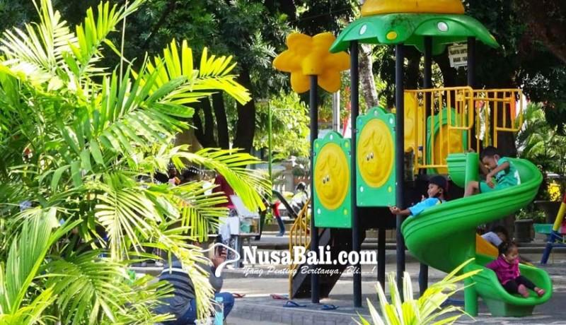 www.nusabali.com-anak-anak-ramai-bermain-tanpa-gunakan-masker