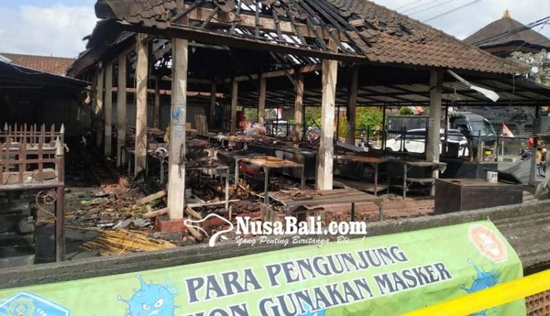 www.nusabali.com-pasar-desa-adat-penarungan-terbakar-68-lapak-hangus