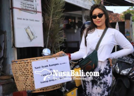 Nusabali.com - bajang-jegeg-jualan-nasi-jinggo-ayam-kampus