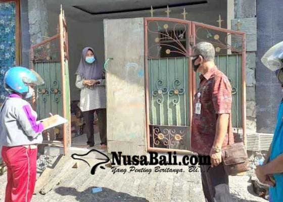 Nusabali.com - satu-kk-di-btn-taman-asri-dikarantina