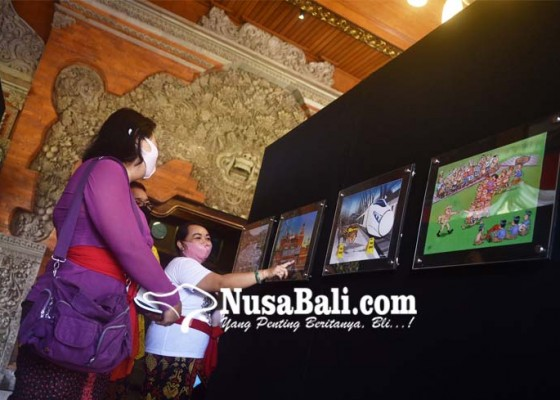 Nusabali.com - 20-kartunis-kritisi-kondisi-sosial-kota-denpasar