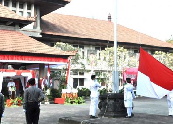 Nusabali.com - wabup-sanjaya-pimpin-apel-hut-ke-75-ri-di-tabanan