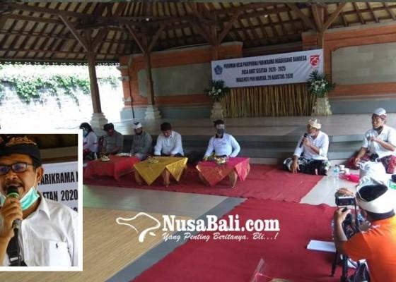 Nusabali.com - musyawarah-mufakat-i-made-widra-terpilih-sebagai-bendesa-adat-sesetan