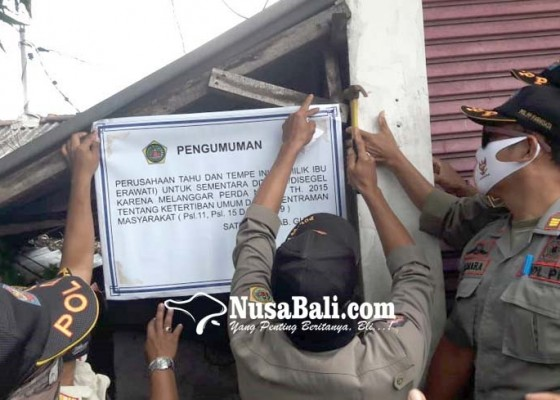 Nusabali.com - cemari-lingkungan-pabrik-tahu-tempe-disegel