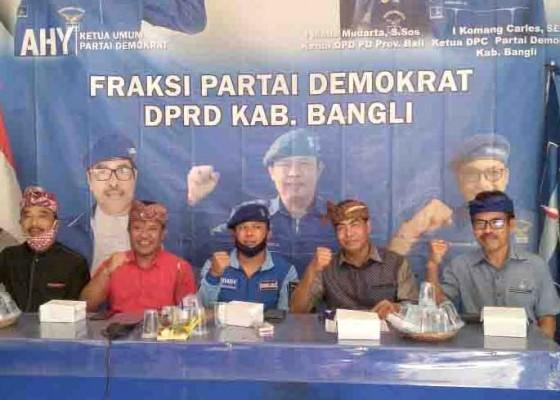 Nusabali.com - sedana-arta-langsung-konsolidasi-di-kantor-dpc-demokrat