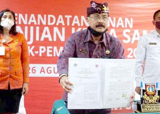 Nusabali.com - sekda-tandatangani-pks-optimalisasi-pajak