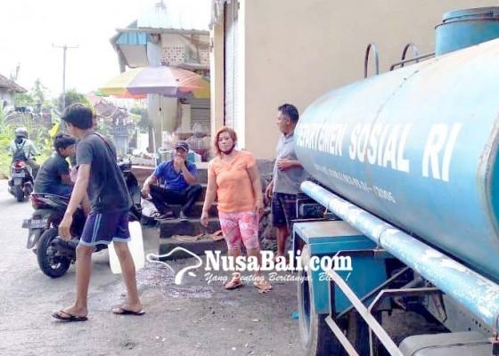 Nusabali.com - pdam-bangli-suplai-air-ke-lokasi-gangguan