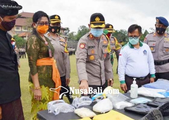 Nusabali.com - kapolres-badung-pimpin-apel-kesiapan