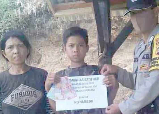 Nusabali.com - relawan-bantu-dua-siswa-yatim