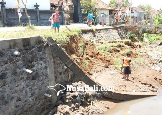 Nusabali.com - diguyur-hujan-senderan-irigasi-jebol