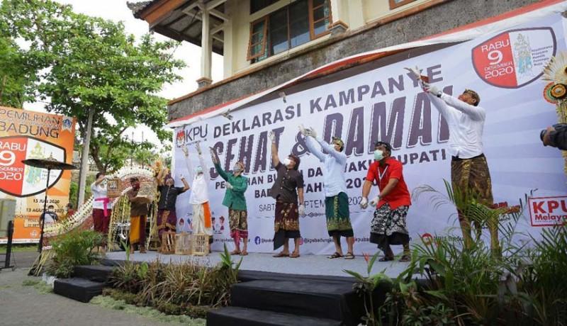 www.nusabali.com-kpu-badung-deklarasi-kampanye-sehat-dan-damai