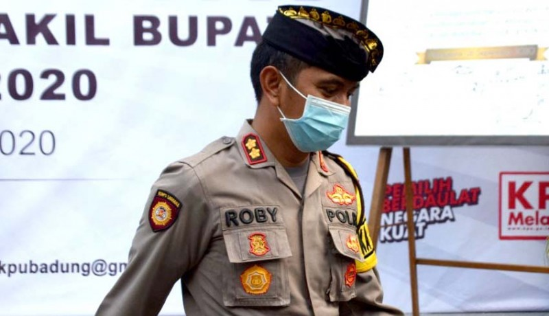 www.nusabali.com-aparat-polres-badung-siap-bubarkan-massa-kampanye