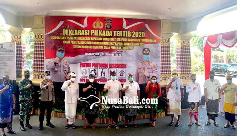 www.nusabali.com-pasangan-cabup-cawabup-badung-deklarasi-pilkada-tertib