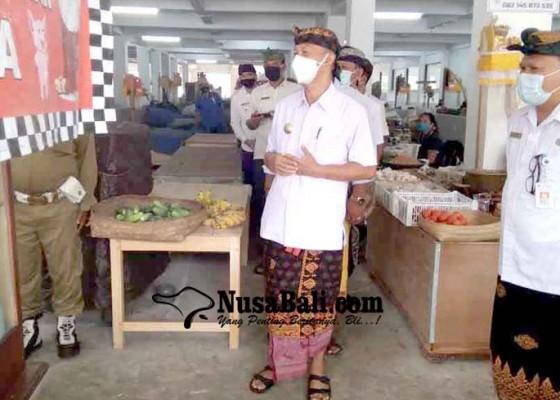 Nusabali.com - pjs-bupati-karangasem-sidak-protokol-kesehatan