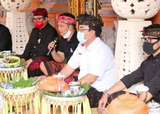 Nusabali.com - simakrama-wagub-bali-di-puri-beraban